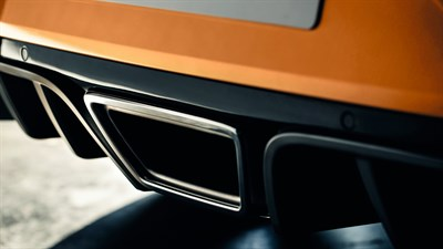 Renault MEGANE RS exhaust pipe design