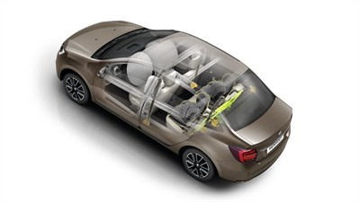 Renault SYMBOL airbags placement diagrams