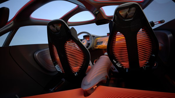 Renault CAPTUR Concept - interior view from the vehicle boot