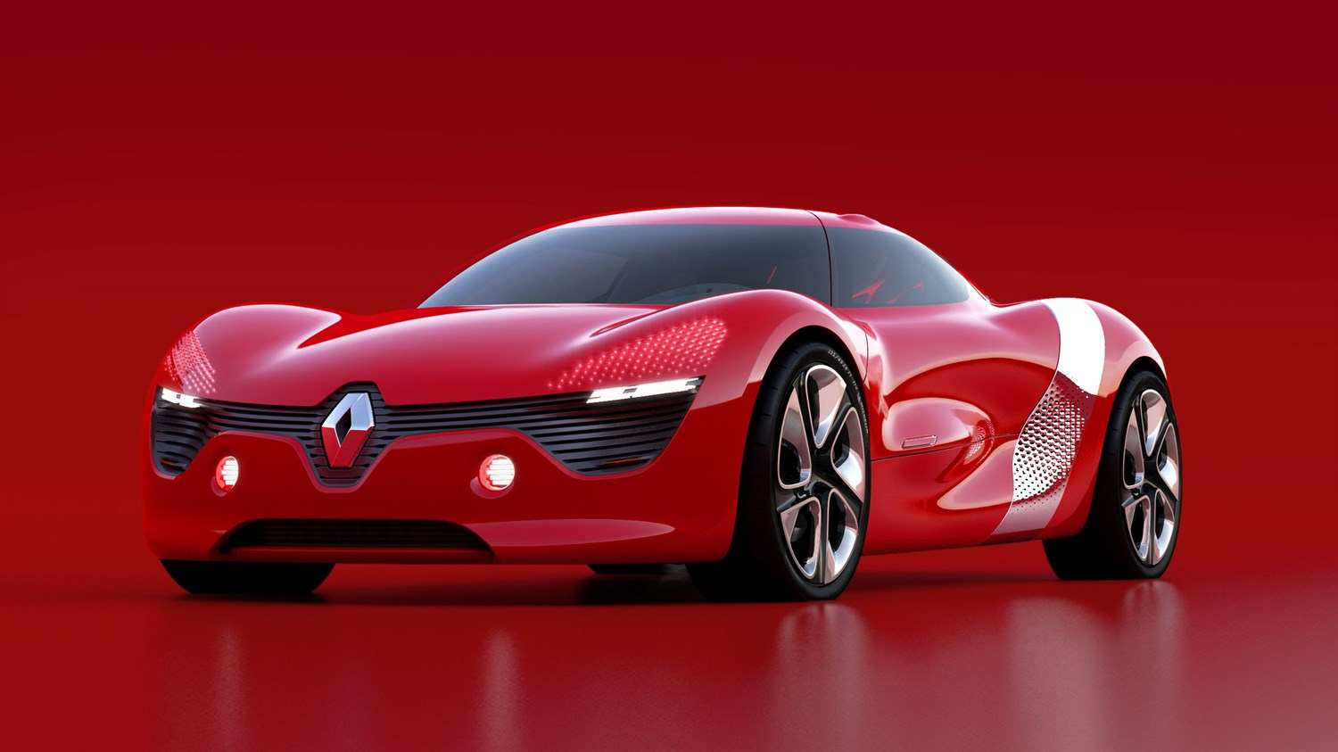 Renault DEZIR Concept - 3/4 left front end view on red background
