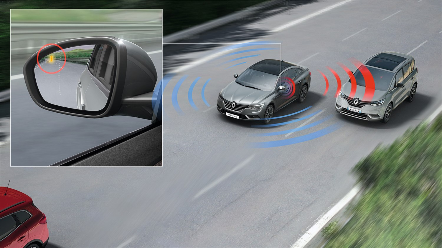 Renault TALISMAN advanced driver assistance systems warn and inform you in real time to maximise your safety.