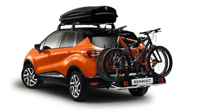 Renault Service - Bicycle rack and roof luggage box on a vehicle